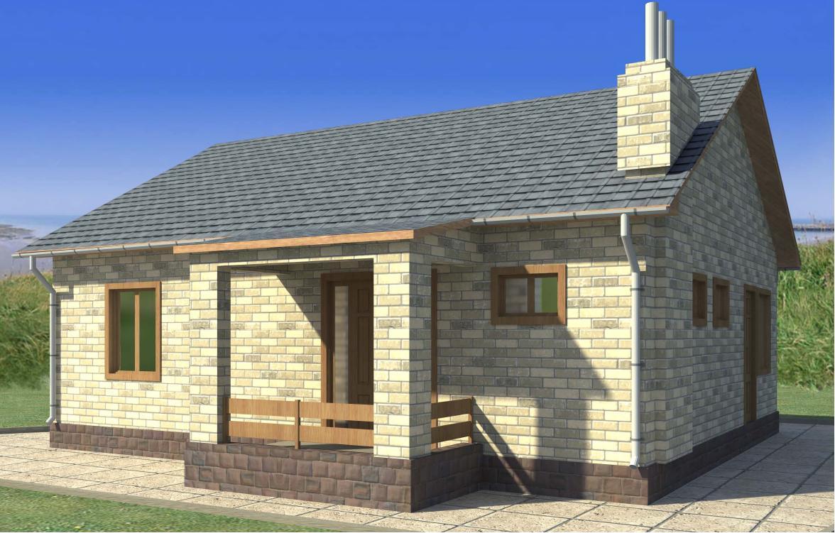 Проект небольшого кирпичного дома