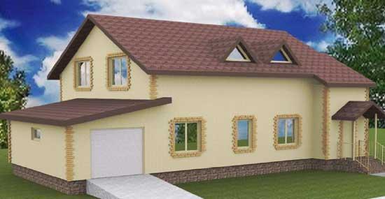 Индивидуальный дом с гаражом