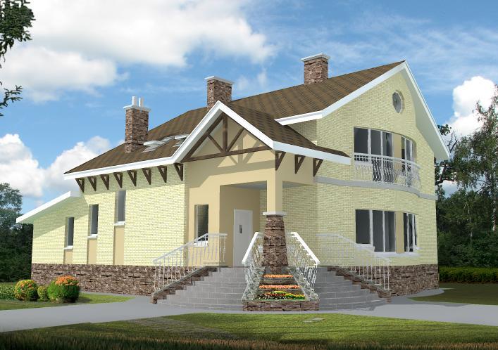 чертежи двухэтажного дома