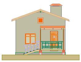 проект двухкомнатного дома
