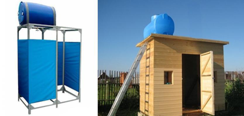 Летний душ для дачи своими руками из подручных материалов фото