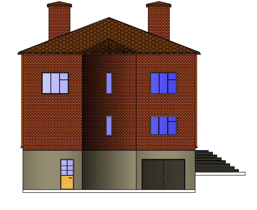 Двухэтажный дом из кирпича Проекты домов бесплатно
