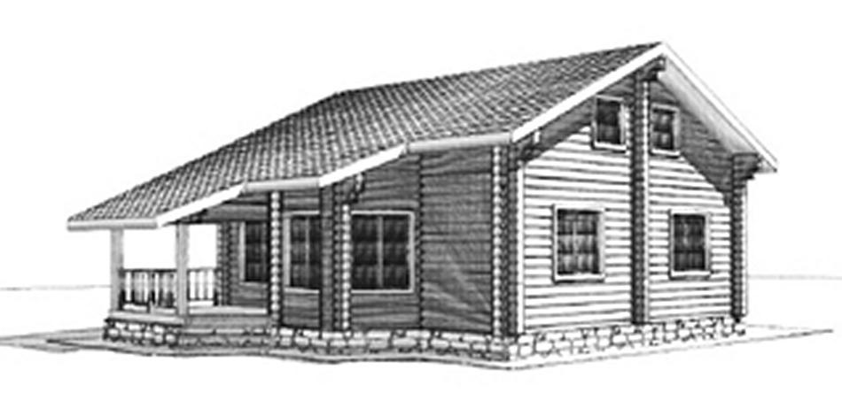 Сруб двухэтажного дома