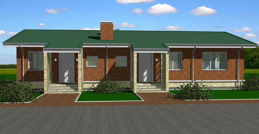 Проект двухквартирного дома