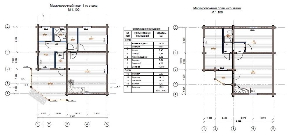 планировка дома из бревна