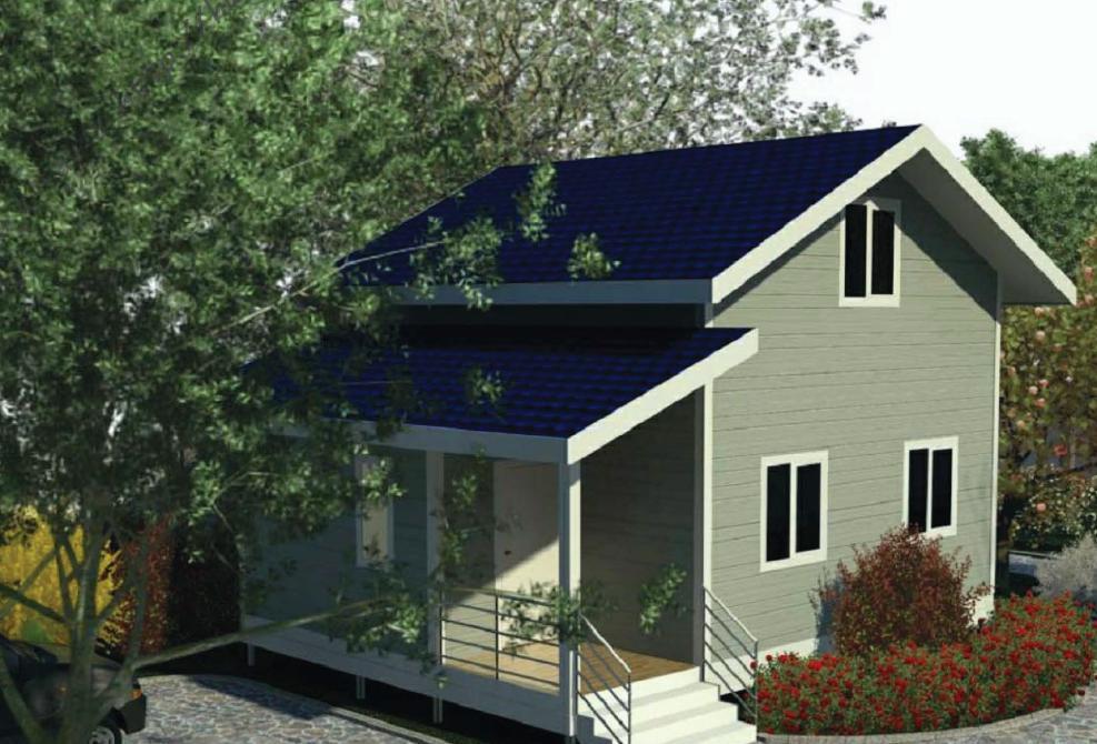Проект каркасного дачного дома