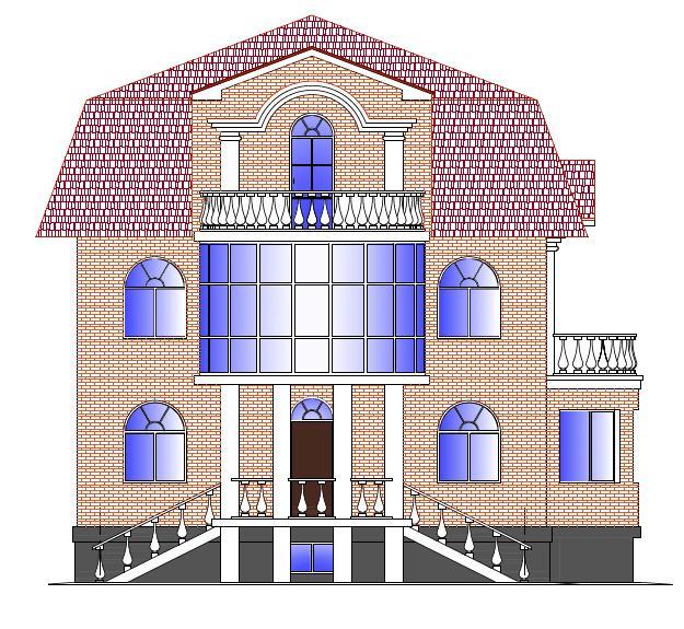 Коттедж с балконом