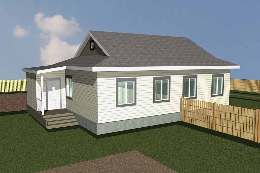 Двухквартирный одноэтажный дом