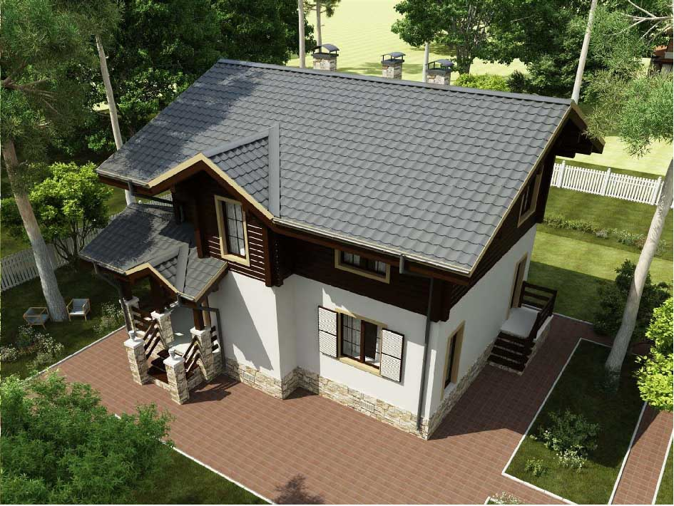Дом из керамического блока